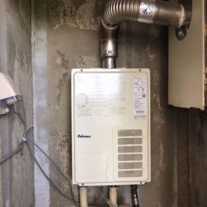 大阪府茨木市H様 PH-203EWFS パロマ製20号FE式ガス給湯器への取替交換工事