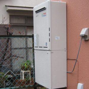 大阪府箕面市K様 RUF-K1611SAW リンナイ製エコジョーズ・ガスふろ給湯器の取替交換工事