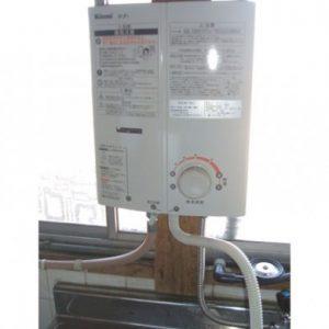 大阪府東大阪市N様 RUS-V51WT リンナイ製元止式小型湯沸器の取替交換工事