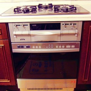 兵庫県伊丹市H様 C3WK7RJTS3SV ハーマン製ビルトインコンロとDR514EST ハーマン製ビルトインオーブンの取替交換工事