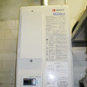 大阪府茨木市S様 GQ-C2422WZD-FH ノーリツ製エコジョーズ・業務用ガス給湯器の取替交換工事