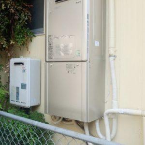 兵庫県尼崎市S様 RVD-E2401AW2-1 リンナイ製エコジョーズ・ガス給湯暖房機の取替交換工事