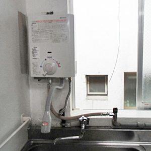 東京都目黒区N様 YR545 ハーマン製小型湯沸器元止式の取替交換工事