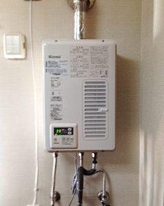 大阪府大阪市平野区S様 RUX-V1015SWFA リンナイ製ガス給湯器(屋内壁掛10号)への取替交換工事
