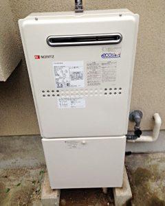 兵庫県芦屋市K様 GTH-C2449SAWD BL ノーリツ製エコジョーズ・ガス温水暖房付ふろ給湯器への取替交換工事