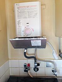 大阪府吹田市A様 GQ-520MW ノーリツ製元止式小型湯沸器の新規取付工事