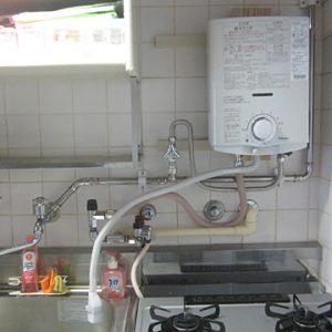 京都府京都市南区M様 PH-5BV パロマ製元止式小型湯沸器の新規取付工事