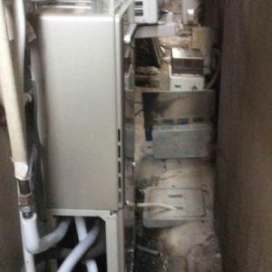 兵庫県尼崎市A様 RUF-E2405SAW リンナイ製エコジョーズ・ガスふろ給湯器への取替交換工事