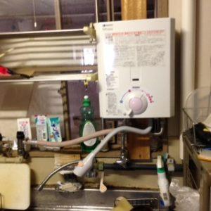 大阪府吹田市A様 GQ-520MW ノーリツ製元止式小型湯沸器への取替交換工事