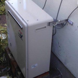 兵庫県宝塚市K様 RFS-A2400SA リンナイ製ガスふろ給湯器(浴室隣接)への取替交換工事