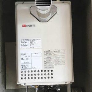 大阪府大阪市K様 GQ-1637WE-T ノーリツ製ガス給湯器(PS扉内設置前方排気)の取替交換工事