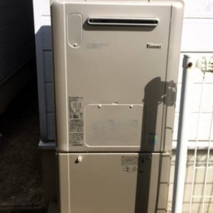 大阪府和泉市A様 RVD-E2405AW2-1(A) リンナイ製エコジョーズ・ガス給湯暖房機への取替交換工事