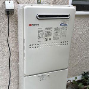兵庫県宝塚市 ノーリツ給湯暖房機 取替交換工事