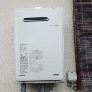 京都市西京区 リンナイ 給湯器 取替交換工事