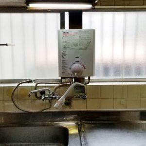 大阪府守口市 ノーリツ小型湯沸かし器 取替交換工事