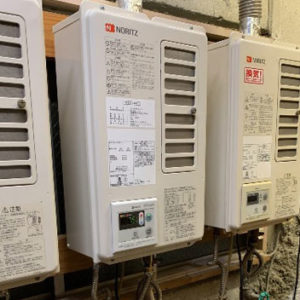 大阪府大阪市 ノーリツ 屋内式FE型給湯器 取替交換工事