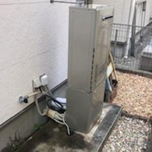 兵庫県三田市 エコウィルから リンナイ 給湯暖房機 取替交換工事