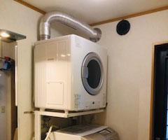 東京都江戸川区 リンナイ ガス衣類乾燥機 新規取付工事