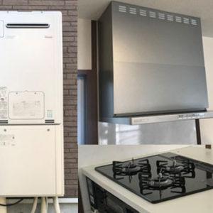 大阪府四條畷市 リンナイ 給湯暖房機・ビルトインコンロ・レンジフード 取替交換工事