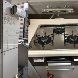 兵庫県神戸市 ノーリツ・TOTO 給湯暖房機・ビルトインコンロ・水栓 取替交換工事
