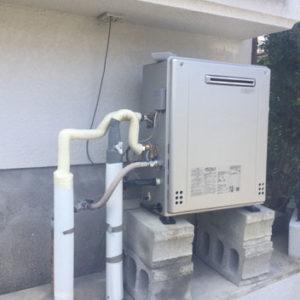 福岡県糸島市 ノーリツ 据置型ふろ給湯器 取替交換工事