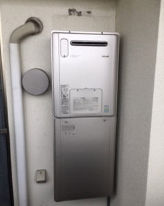 大阪府茨木市 リンナイ 給湯暖房機 取替交換工事
