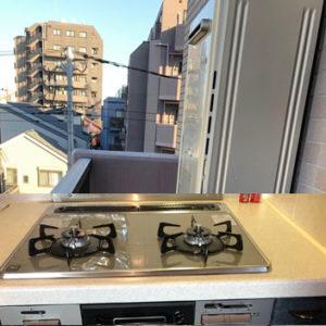 東京都足立区 リンナイ給湯暖房機 ノーリツビルトインコンロ 取替交換工事