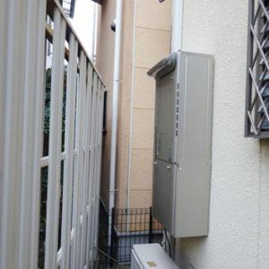 京都府向日市 リンナイ 給湯暖房機 取替交換工事
