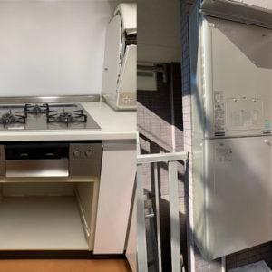 東京都品川区 リンナイ 給湯暖房機・ノーリツ ビルトインコンロ 取替交換工事