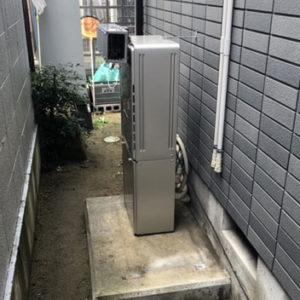 大阪府箕面市 エコウィルから リンナイ 給湯暖房機 取替交換工事