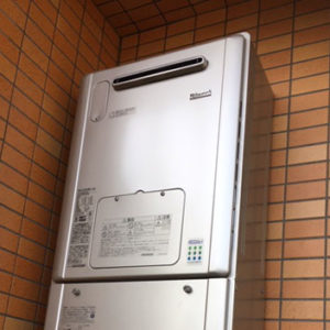 大阪府吹田市 リンナイ 給湯暖房機 取替交換工事