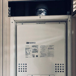 神奈川県横浜市青葉区 ノーリツ PS扉内上方排気延長型 給湯暖房機 取替交換工事