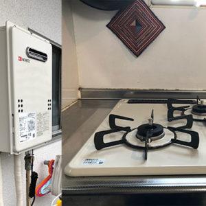 東京都中野区 リンナイ ビルトインコンロ ノーリツ 給湯器 取替交換工事