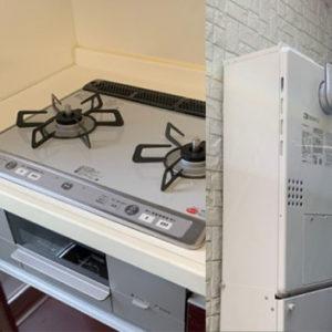 京都府向日市 給湯暖房機・ビルトインコンロ 取替交換工事