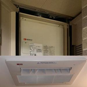 大阪府豊中市 ノーリツ クイックオート高温差湯式給湯暖房機・浴室暖房乾燥機 取替交換工事