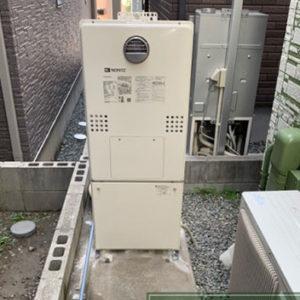 大阪府大阪市西淀川区 エコウィルから ノーリツ給湯暖房機 取替交換工事