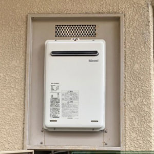 大阪府茨木市 リンナイ 給湯器 新規設置工事