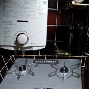 大阪府大阪市北区 大阪ガス テーブルコンロ・ノーリツ 小型湯沸かし器 取替交換工事